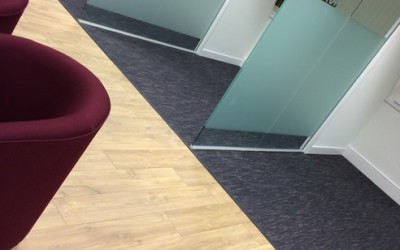 Example Commercial Carpet in a office by UK3Floor of Northampton