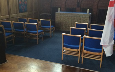 Example Commercial Carpet in a church by UK3Floor of Northampton