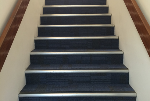 Example Commercial Carpet of office stairs by UK3Floor of Northampton