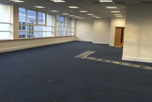 Example Commercial tiled Carpet by UK3Floor of Northampton
